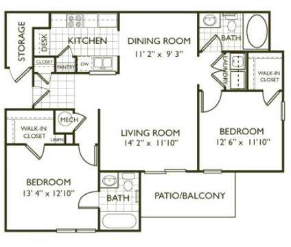 2 Beds - Clairmont at Farmgate at 6301 Daybrook Cir in Raleigh NC is a Apartment