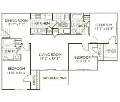 3 Beds - Clairmont at Farmgate at 6301 Daybrook Cir in Raleigh NC is a Apartment