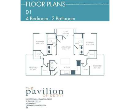 4 Beds - The Pavilion on Berry Apartments at 950 Jefferson Commons Cir in Saint Paul MN is a Apartment