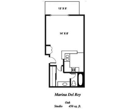Studio - Oakwood Marina Del Rey at 4111 South Via Marina in Marina Del Rey CA is a Apartment