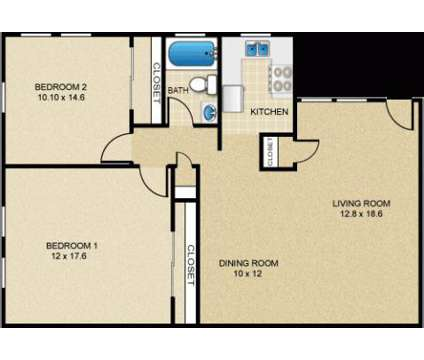 2 Beds - Meadowbrook Gardens at 3579 Route 46 in Parsippany NJ is a Apartment