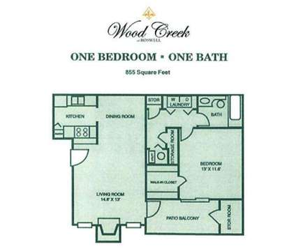 1 Bed - Wood Creek at 600 Old Holcomb Bridge in Roswell GA is a Apartment