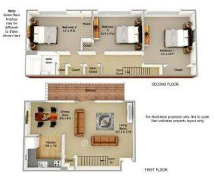 3 Beds - The Courts of Camp Springs at 5327 Carswell Ave in Camp Springs MD is a Apartment