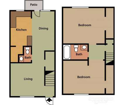 2 Beds - York Towne Apartments and Townhomes at 3601 Lynhaven Dr in Greensboro NC is a Apartment