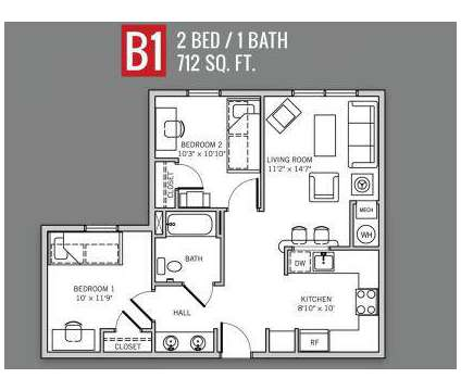 2 Beds - Campus Park at University of Cincinnati at 195 East Mcmillan St in Cincinnati OH is a Apartment