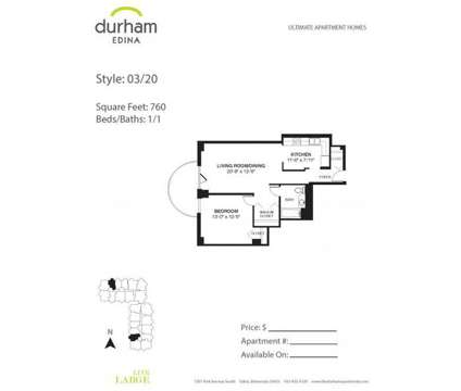 1 Bed - Durham Edina at 7201 York Avenue S in Edina MN is a Apartment