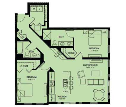2 Beds - Central Station Luxury Apartments at 1720 Central St in Evanston IL is a Apartment