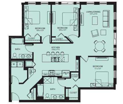 3 Beds - Central Station Luxury Apartments at 1720 Central St in Evanston IL is a Apartment