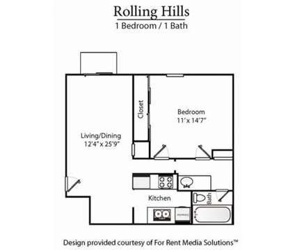 1 Bed - Rolling Hills Apartment Homes at 6535 Premier Dr in Nashville TN is a Apartment