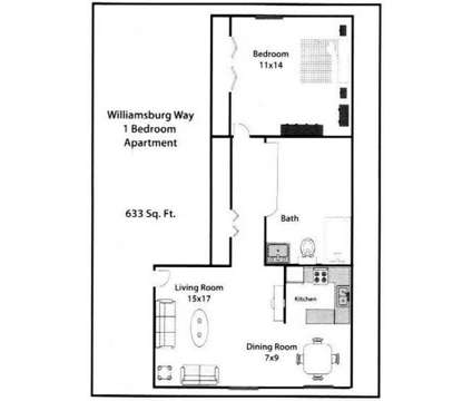 1 Bed - Williamsburg Way at 3838 Williamsburg Way in Columbus IN is a Apartment