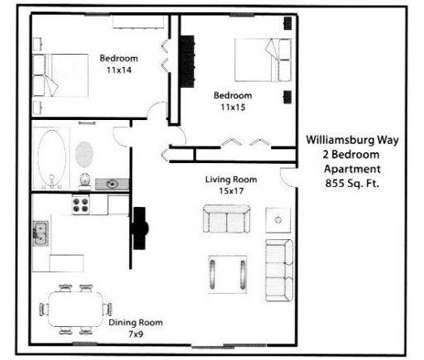 2 Beds - Williamsburg Way at 3838 Williamsburg Way in Columbus IN is a Apartment