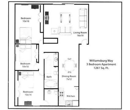 3 Beds - Williamsburg Way at 3838 Williamsburg Way in Columbus IN is a Apartment