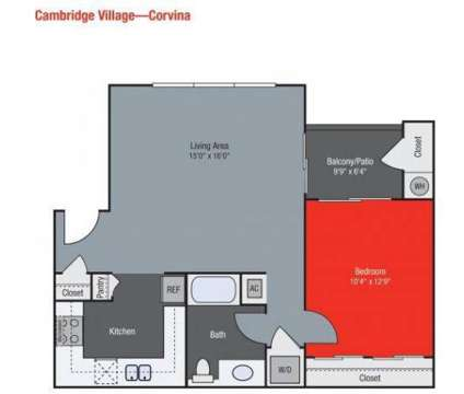 1 Bed - Cambridge Village Apartments at 8200 N Laurelglen Boulevard in Bakersfield CA is a Apartment