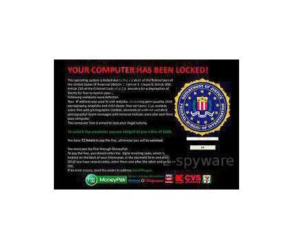 We remove FBI Virus from your computer within one hour or less Conway [phone... is a Other Computer Equipments for Sale in Conway SC