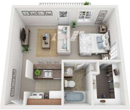 Studio - Village One Apartments at 587 Broadway in Menands NY is a Apartment