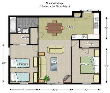 2 Beds - Pinewood Village Apartments at 29 Bog Rd in Concord NH is a Apartment