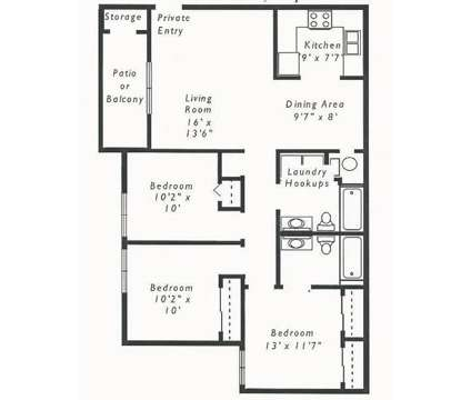 3 Beds - RiverEast Apartments at 3201 Renner Dr in Council Bluffs IA is a Apartment