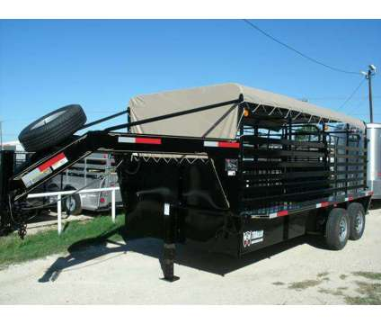 New W-W 16x6.8 Roust about Steel Livestock Trailer is a in La Feria TX