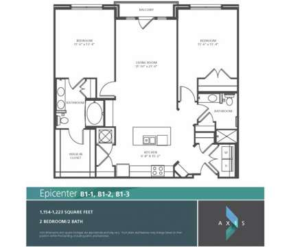 2 Beds - Axis at 401 N Senate Avenue in Indianapolis IN is a Apartment