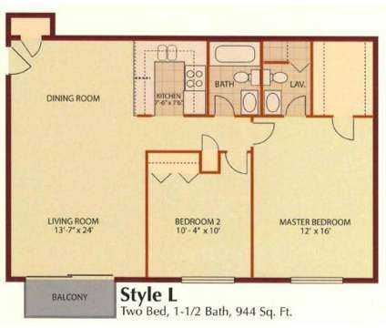 2 Beds - Carriage Creek Apts at 22501 Butterfield Road in Richton Park IL is a Apartment