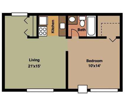 1 Bed - Woodland Arms Apartments at 22045 West 8 Mile Rd #115 in Detroit MI is a Apartment