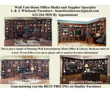 Parker House Entertainment Wall Units Office Furniture & More is a Bookcases & Shelves for Sale in Peoria AZ