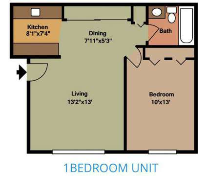 1 Bed - Ellyn Crossing at 440 Gregory Ave in Glendale Heights IL is a Apartment