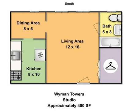 Studio - Wyman Towers at 3100 St Paul St in Baltimore MD is a Apartment