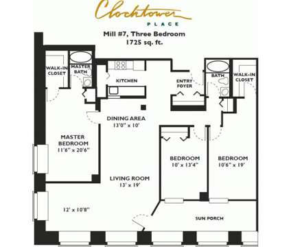 3 Beds - Clocktower Place at 2 Clocktower Place in Nashua NH is a Apartment