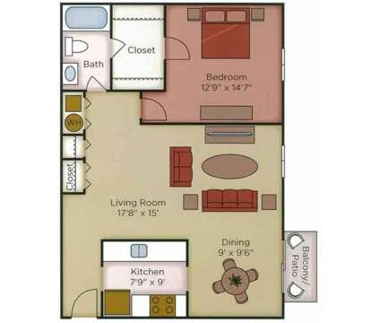 1 Bed - The Villas at 2085 Waterford Place in Indianapolis IN is a Apartment