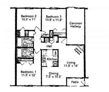 3 Beds - Covered Bridge Apartments at 4909 Covered Bridge Rd in Indianapolis IN is a Apartment