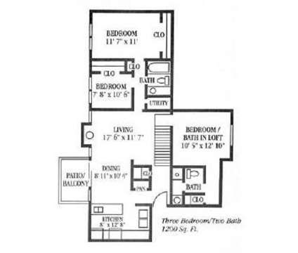 3 Beds - Regency Apartments at 7311 Buckingham Drive in Lincoln NE is a Apartment
