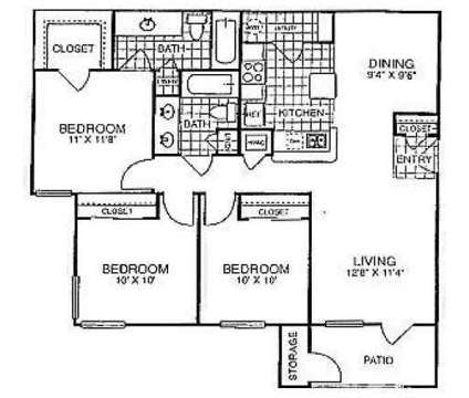 3 Beds - Rosemont of Oak Hollow at 3015 E Ledbetter Drive in Dallas TX is a Apartment