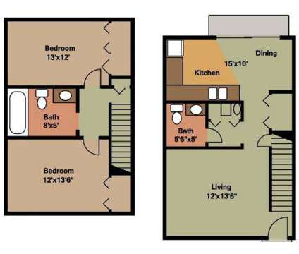 2 Beds - Cedar Ridge Townhomes & Apartments at 3634 Oaklawn Dr in Anderson IN is a Apartment