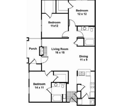 3 Beds - Cross Creek at Victory Station at 490 Fortress Boulevard in Murfreesboro TN is a Apartment