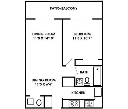 1 Bed - Man O War Crossing at 2845 Palumbo Dr in Lexington KY is a Apartment