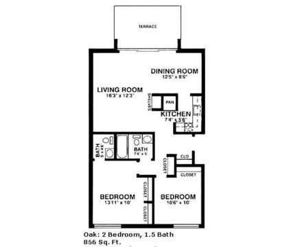 2 Beds - Hiddentree Apartments & Townhomes at 410 Pine Forest Dr in East Lansing MI is a Apartment