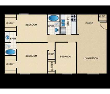 3 Beds - Central Park (Arlington) at 2001 S Cooper St in Arlington TX is a Apartment