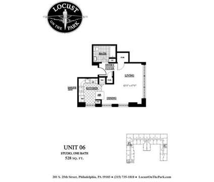 Studio - Locust on the Park at 201 South 25th St in Philadelphia PA is a Apartment