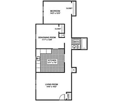 1 Bed - Rolling Hills Apartments at 9100 Rainbow Springs Ct in Louisville KY is a Apartment