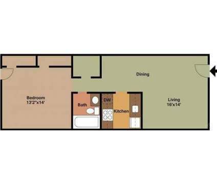 1 Bed - Park Lane and Park Hill at 7 Park Ln East in Albany NY is a Apartment