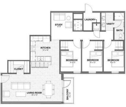 3 Beds - Canopy Lofts at 601 R St in Lincoln NE is a Apartment