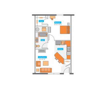 1 Bed - Copper Beech Townhomes at 4750 E Bluegrass Road in Mount Pleasant MI is a Apartment