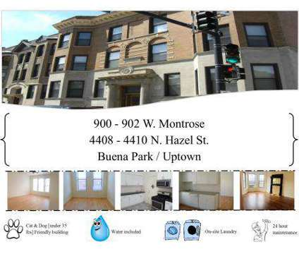 Studio - Slater Realty Uptown and Lakeview Neighborhood Apartments at 900 West Montrose in Chicago IL is a Apartment