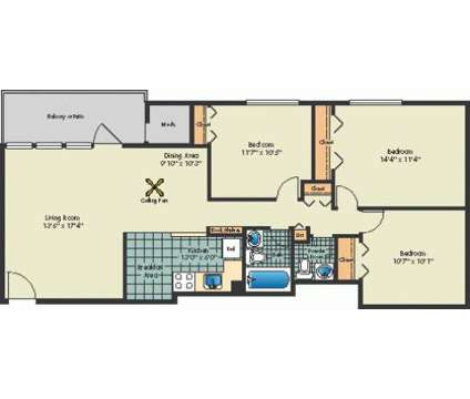 3 Beds - Laurel Pines at 14801 Bowie Rd in Laurel MD is a Apartment