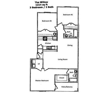 3 Beds - Abbotts Park at 6230 Abbotts Park Road in Fayetteville NC is a Apartment