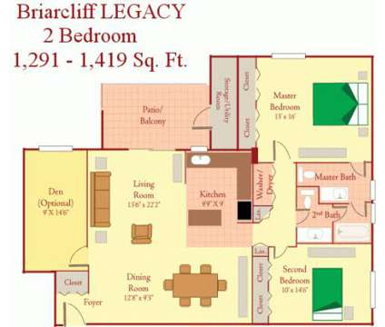 2 Beds - Briarcliff Apartments at 599 Cranbrook Road in Cockeysville MD is a Apartment