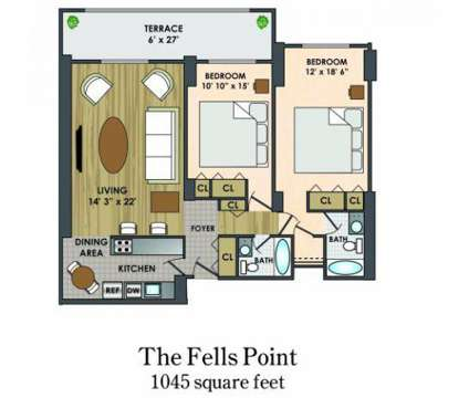 2 Beds - Sutton Place Apts at 1111 Park Avenue in Baltimore MD is a Apartment