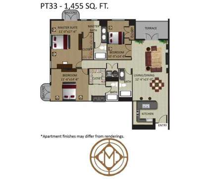 3 Beds - Mizner Park at 401 Ne Mizner Blvd in Boca Raton FL is a Apartment