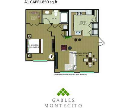 1 Bed - Gables Montecito at 9016 Alister Boulevard East in Palm Beach Gardens FL is a Apartment